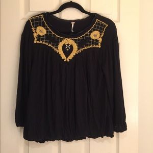 Free People NWT embroidered tunic